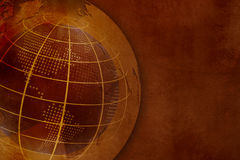 Grungevärldskartabakgrund Vektor Illustrationer