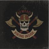 Grungeviking logo Arkivbilder