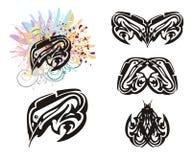 Grungevissen en getolde vissensymbolen Royalty-vrije Stock Afbeelding