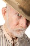 Grungy älterer Cowboy Stockfotos