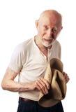 Grungy älterer Cowboy lizenzfreie stockbilder