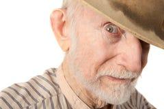 Grungy älterer Cowboy lizenzfreies stockfoto