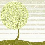 grungy återanvändande tree för begrepp Royaltyfri Foto