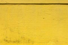Grungy żółty tło naturalna cementowa stara tekstura jako zmiękczający Zdjęcie Stock