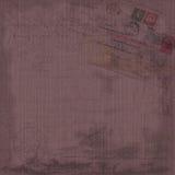 Grungy винтажная предпосылка коллажа ephemera открытки Стоковая Фотография RF