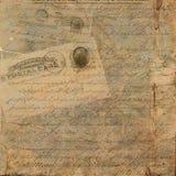 Grungy винтажная предпосылка текста открытки Стоковое Изображение