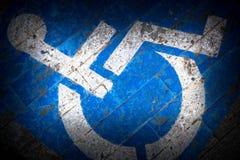 Grungy выведенный из строя тон знака Стоковые Фото