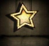 grungy звезда иллюстрация вектора