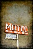 grungy знак мотеля Стоковая Фотография RF