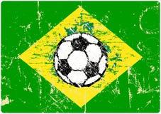 Grungy знак футбола бесплатная иллюстрация