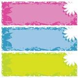 grungy знамен флористическое Стоковые Фотографии RF