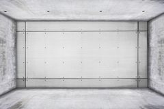 Grungy конкретная комната Стоковая Фотография RF