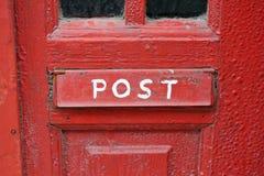 grungy красный цвет почтового ящика Стоковое Изображение