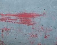 Grungy красным покрашенная металлом краска шелушения листа Стоковые Фото