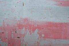 Grungy красным покрашенная металлом краска шелушения листа Стоковая Фотография RF