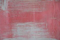 Grungy красным покрашенная металлом краска шелушения листа Стоковые Изображения RF
