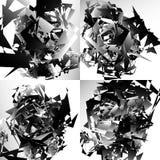 Grungy, нервная текстура с случайными элементами - абстрактное illustratio иллюстрация вектора