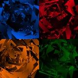 Grungy, нервная текстура с случайными элементами - абстрактное illustratio Стоковое Изображение