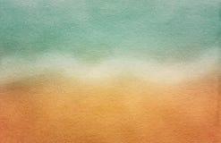 Grungy открытка моря. Старая бумажная текстура Стоковые Изображения RF