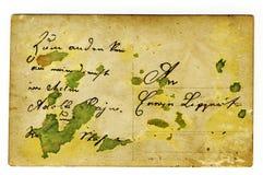 grungy открытка Стоковые Фото