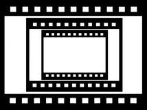 grungy отрицательный фильм, картинная рамка Стоковые Изображения RF