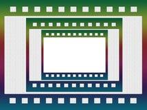 grungy отрицательный фильм, картинная рамка Стоковое Фото