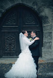 Grungy пары свадьбы Стоковое Фото