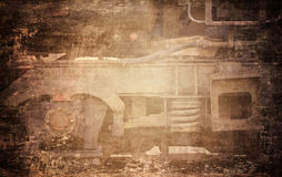 Grungy поезд Стоковые Фото