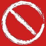 Grungy, покрашенный запрет, знак ограничения Предохранение, запрет, бесплатная иллюстрация