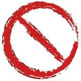Grungy, покрашенный запрет, знак ограничения Предохранение, запрет, иллюстрация штока