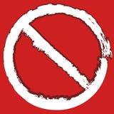 Grungy, покрашенный запрет, знак ограничения Предохранение, запрет, иллюстрация вектора