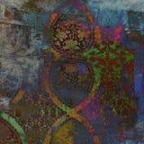 Grungy предпосылка год сбора винограда штофа Стоковое фото RF