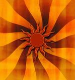 Grungy предпосылка sunburst Стоковое Изображение RF