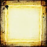grungy рамки золотистое Стоковые Фотографии RF