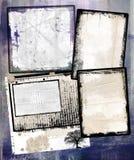 Grungy рамки Стоковые Изображения