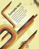 Grungy ретро предпосылка с ровными линиями цвета Стоковая Фотография RF
