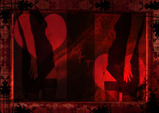 grungy сексуальный силуэт Стоковое Изображение RF