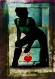 grungy сексуальный силуэт Стоковые Фотографии RF