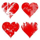Grungy сердце установило 1 Стоковая Фотография RF