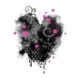 grungy сердце Стоковое Изображение