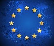 Grungy символ Европейского союза Стоковые Фотографии RF
