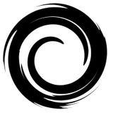 Grungy смазанный круг Абстрактный силуэт формы выплеска иллюстрация вектора