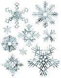 grungy снежинки Стоковые Фотографии RF