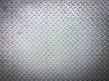 Grungy старая выдержанная плита диаманта металла Стоковые Фото