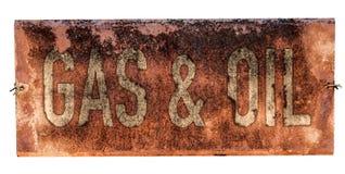 Grungy старый знак газа и масла Стоковое фото RF