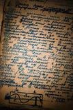 grungy страница тетради Стоковое Изображение RF
