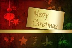 Grungy с Рождеством Христовым иллюстрация Стоковое Изображение RF