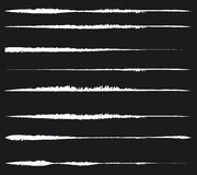 Grungy, текстурированные линии для влияний повреждения Комплект smudged, мазок бесплатная иллюстрация