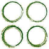 Grungy, текстурированные круги с 4 линией ширина Запятнанный smudge, smea Стоковое Фото
