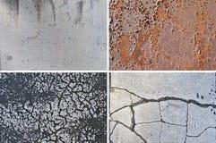 Grungy текстуры - комплект 1 стоковая фотография rf
